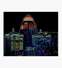 Neon CityScape Photographic Print