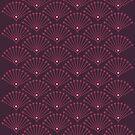 Vintage Art Deco pattern- Wine red dot dot dot by Ratherswell