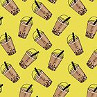 Bubble Tea Seamless Pattern by owliedesign
