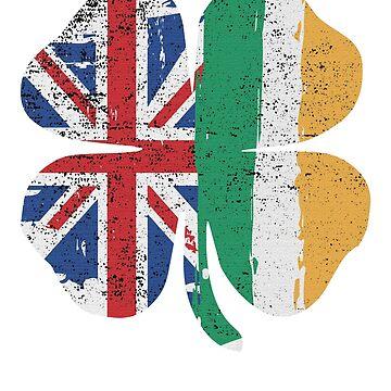 St patrick's day shirt British Irish Clover shamrock tshirt by handcraftline