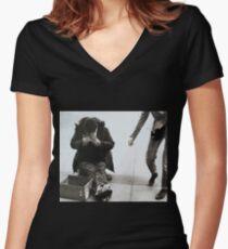 The Philanthropist  Women's Fitted V-Neck T-Shirt