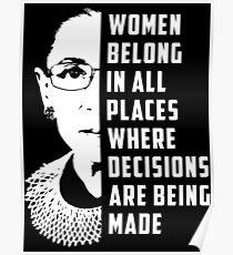 Ruth Bader Ginsburg RBG Poster
