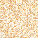 Still Waiting For Spring Bright Orange Pattern by plantita