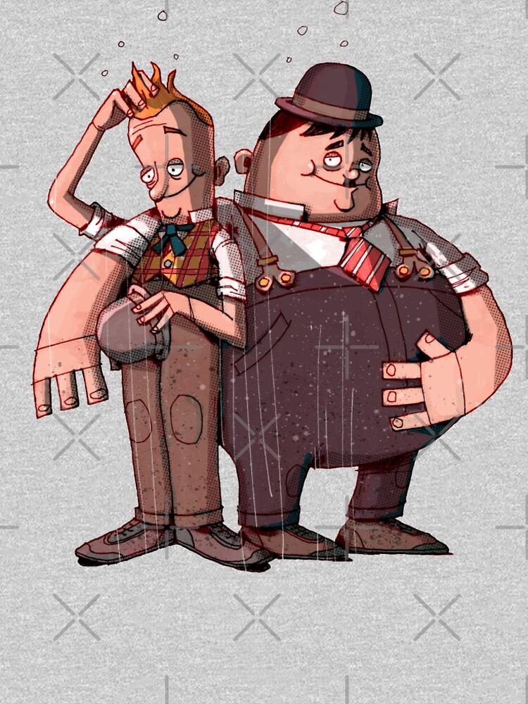 Laurel & Hardy (Mixed media) by Kicksaus