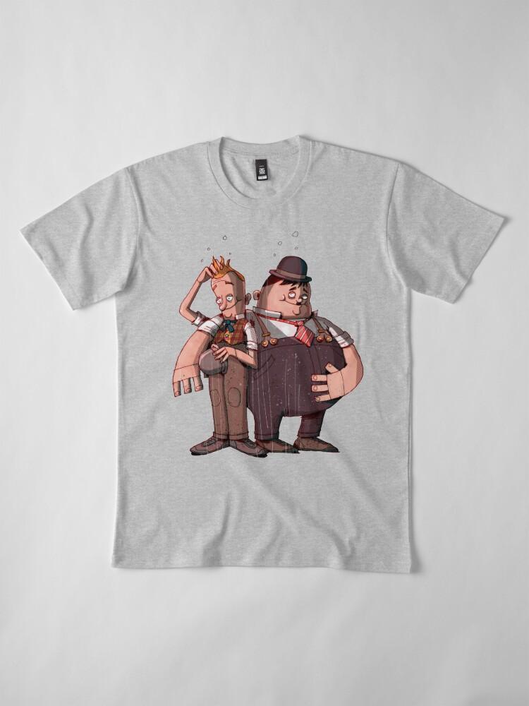 Alternate view of Laurel & Hardy (Mixed media) Premium T-Shirt
