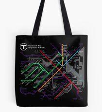 MBTA Boston Subway - The T Tote Bag