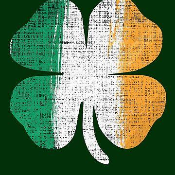 St patrick's day shirt Irish Clover shamrock tshirt by handcraftline