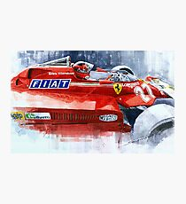 Ferrari 126C Silverstone 1981 British GP Gilles Villeneuve Photographic Print