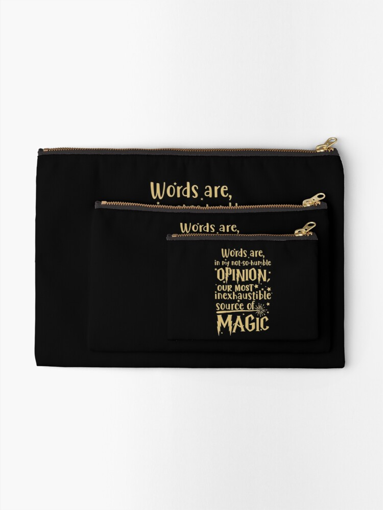 Alternate view of Inexhaustible source of magic Zipper Pouch