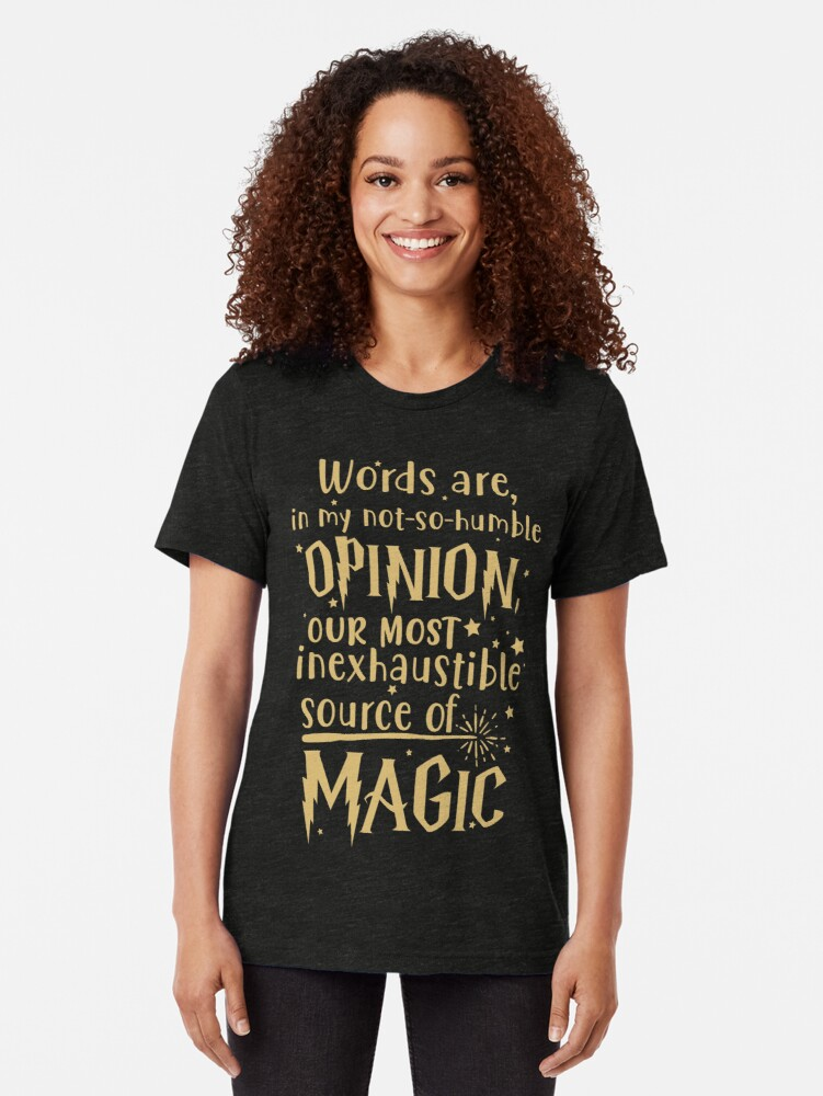 Alternate view of Inexhaustible source of magic Tri-blend T-Shirt