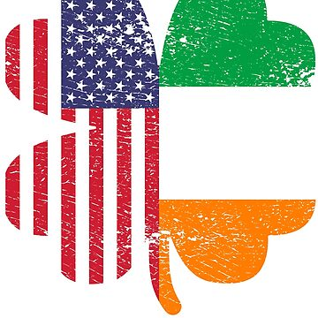 Irish American Ireland Shamrock St Patricks Day Gift by efomylod