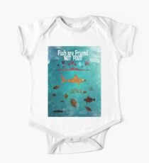Fish are friend not food poker One Piece - Short Sleeve