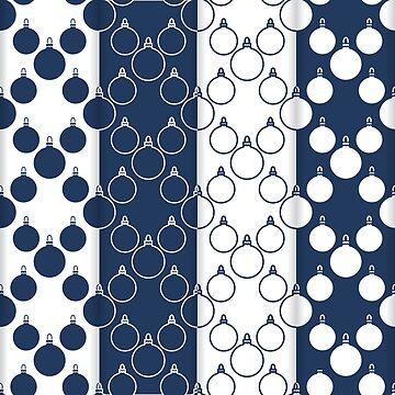 4 Christmas, New Year 2019 seamless pattern. by aquamarine-p