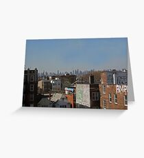 Suburb And City Greeting Card