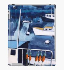 Lobster Boat in Blue Harbor iPad Case/Skin