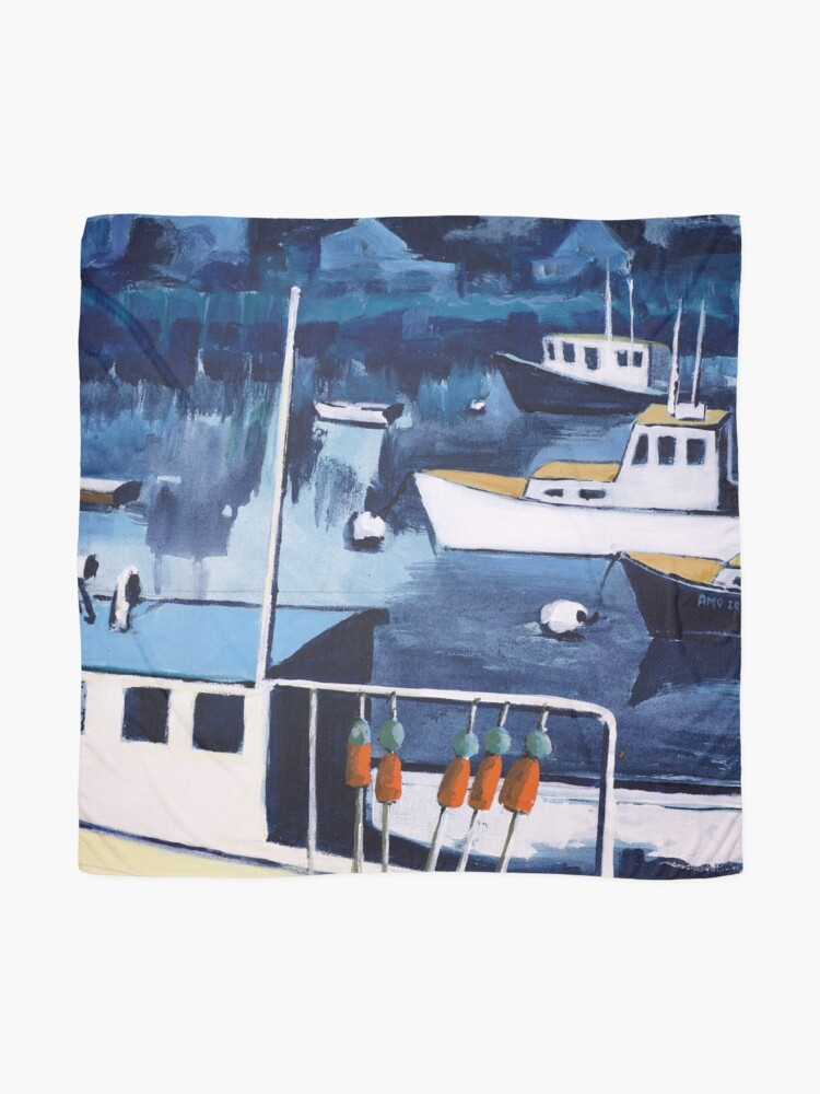 Alternate view of Lobster Boat in Blue Harbor Scarf