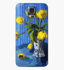 Yellow Tulips with Blue Case/Skin for Samsung Galaxy