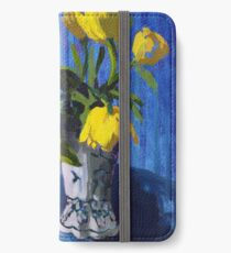 Yellow Tulips with Blue iPhone Wallet/Case/Skin