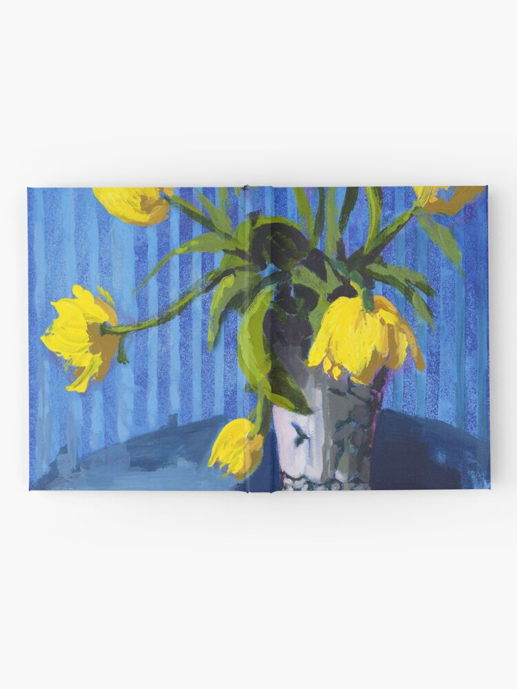 Alternate view of Yellow Tulips with Blue Hardcover Journal