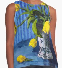 Yellow Tulips with Blue Contrast Tank