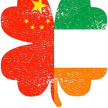 Irish Chinese Ireland Shamrock St Patricks Day Gift by efomylod