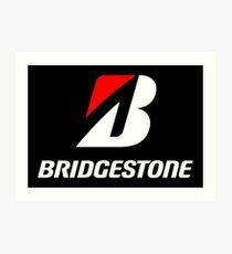 White Bridgestone merchands Art Print