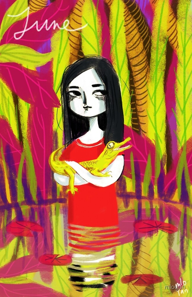 june & her crocodile by mloyan