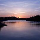 Sun Set on Salmonier Line by Daphne Johnson