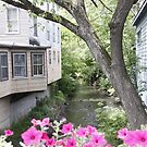 Flower-box and creek in Millerton, NY. by Bigart32