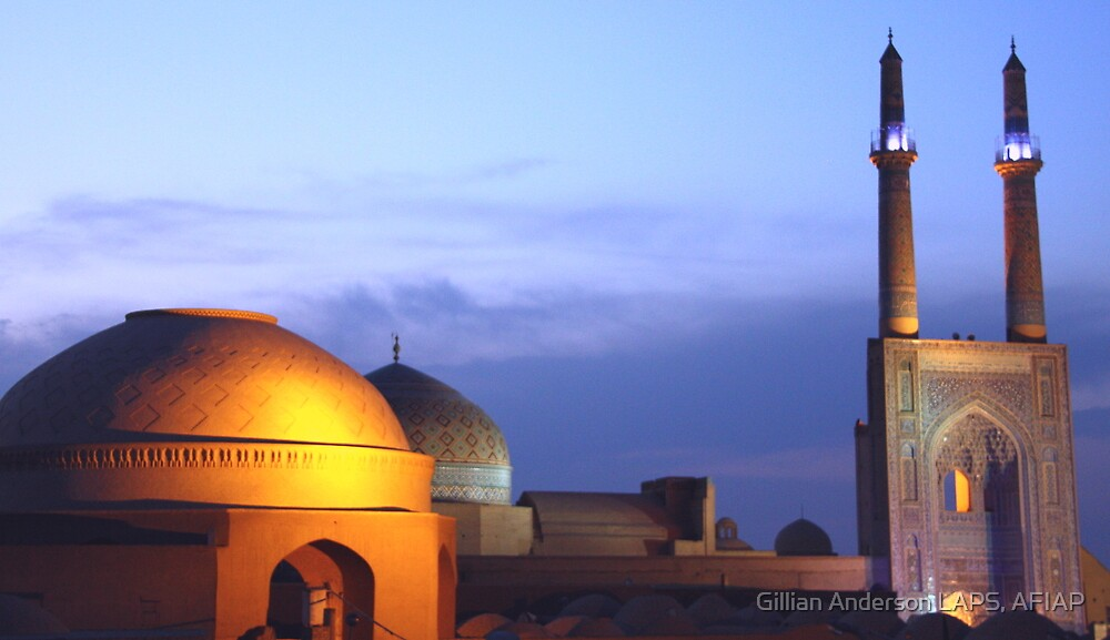 Rooftops of Yazd by Gillian Anderson LAPS, AFIAP