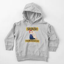 SMASH the patriarchy rosie riveter Toddler Pullover Hoodie