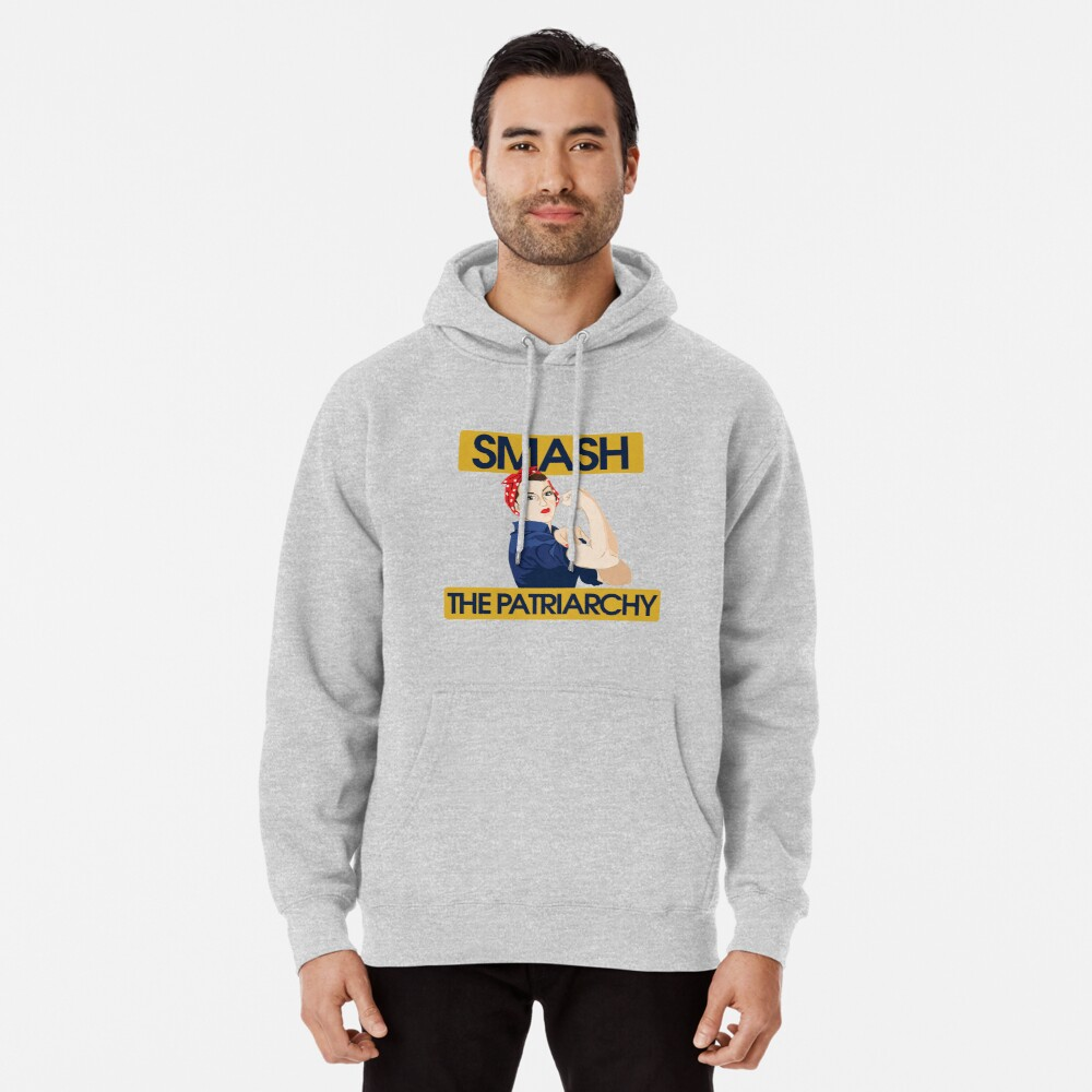 SMASH the patriarchy rosie riveter Pullover Hoodie