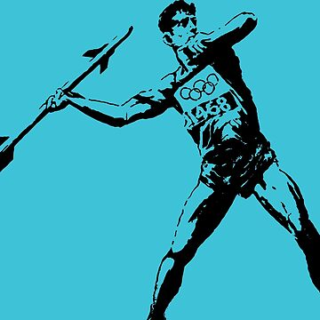 Banksy Olympic Javelin Thrower With Rocket by furioso