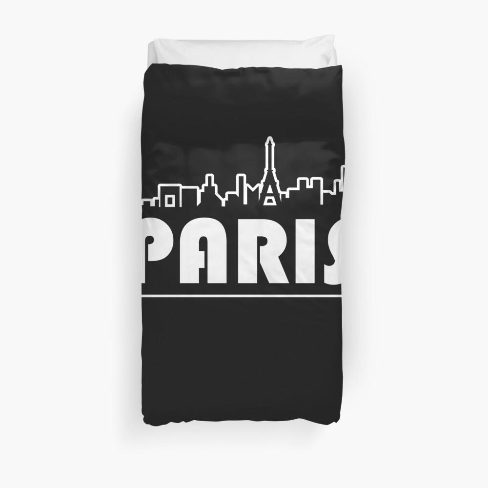 Paris-T-Shirt Paris-Skyline-Hemd Französisches Ferien-Geschenk-T-Stück Bettbezug