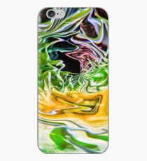 brilliant green round abstract shape iPhone Case