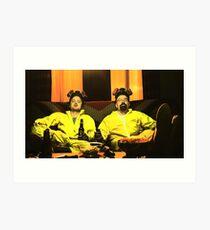 Breaking Bad - Walt and Jessie Art Print