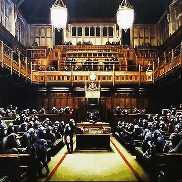 Banksy Monkey Parliament by furioso