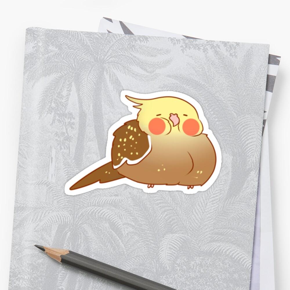 Sleepy cockatiel - Cinnamon pearl by phatbird
