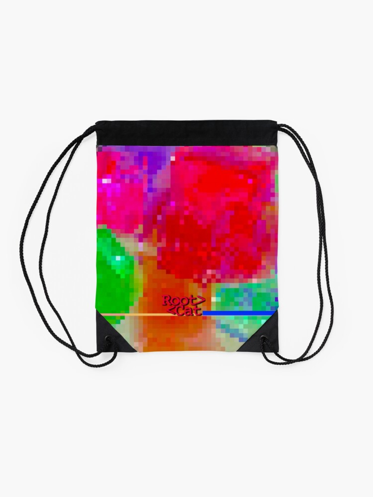 Alternate view of J^LLY M^ [機器間 says] Pixel Art Drawstring Bag