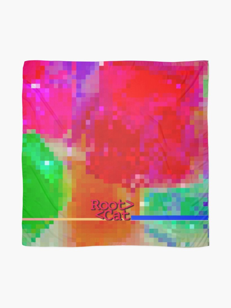 Alternate view of J^LLY M^ [機器間 says] Pixel Art Scarf