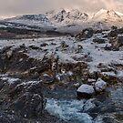 Bla Bheinn( Blaven) in Winter by derekbeattie