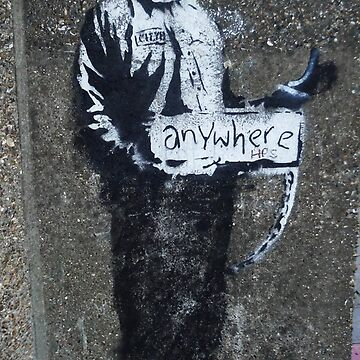 Banksy Manson Hitchhiker to anywhere by furioso