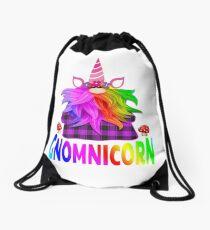 Plaid Gnome Unicorn Shirt Funny Mushroom Gnomnicorn Accessories,  Drawstring Bag