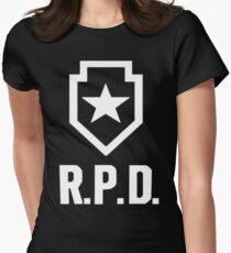 Resident Evil 2: REmake RPD Logo Women's Fitted T-Shirt