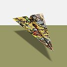Gold Crown Comic Book Ad Paper AIrplane by YoPedro