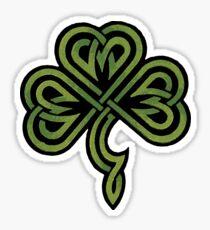 Pegatina Shamrock irlandés