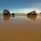 Newdicks beach night by Paul Mercer