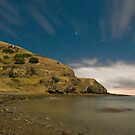 Goat bay night by Paul Mercer
