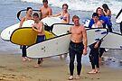 Surf School at Torquay by Darren Stones