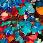 multiform colored shapes abstract art by BBS ART